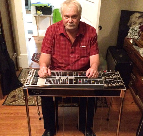 Ricky Hagan with Emmons steel guitar